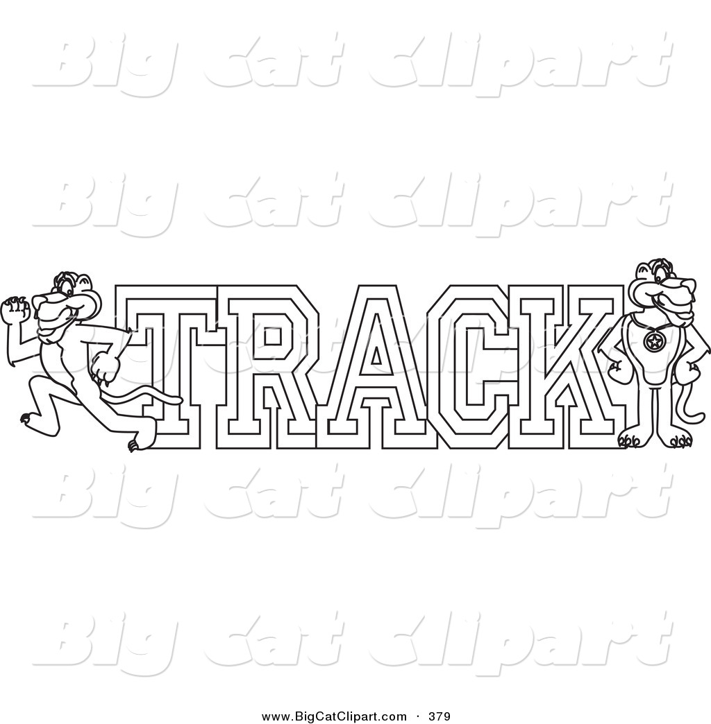Royalty free track team stock big cat designs for Track coloring pages