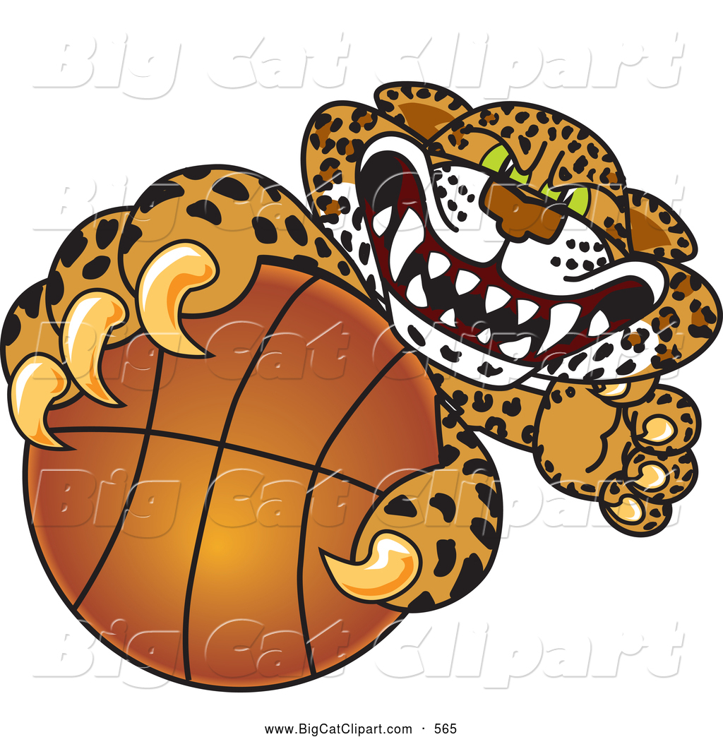 Ferocious Jaguar: Big Cat Cartoon Vector Clipart Of A Ferocious Cheetah
