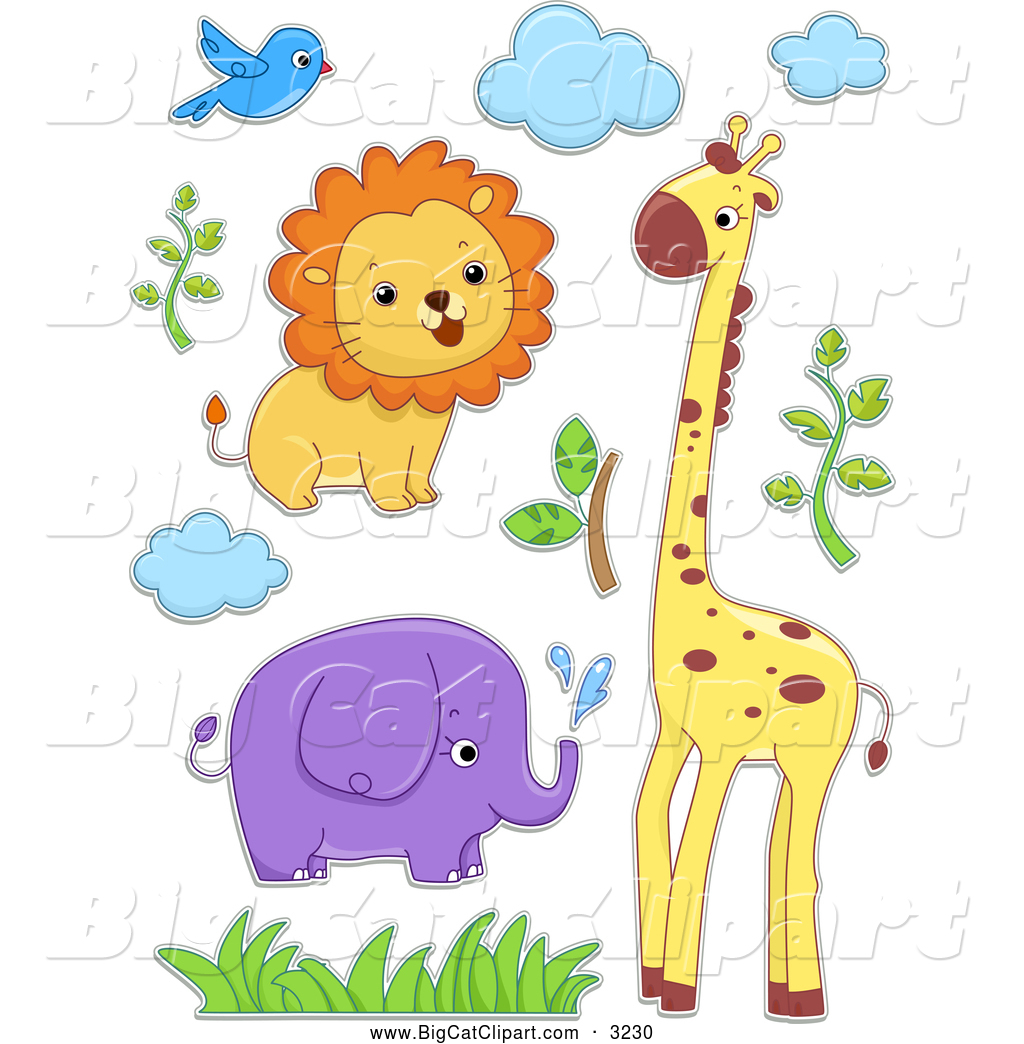 royalty free stock big cat designs of elephants