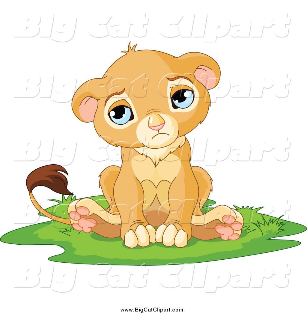 Sad Lion Cartoon Sad Cute Little Lion Cub