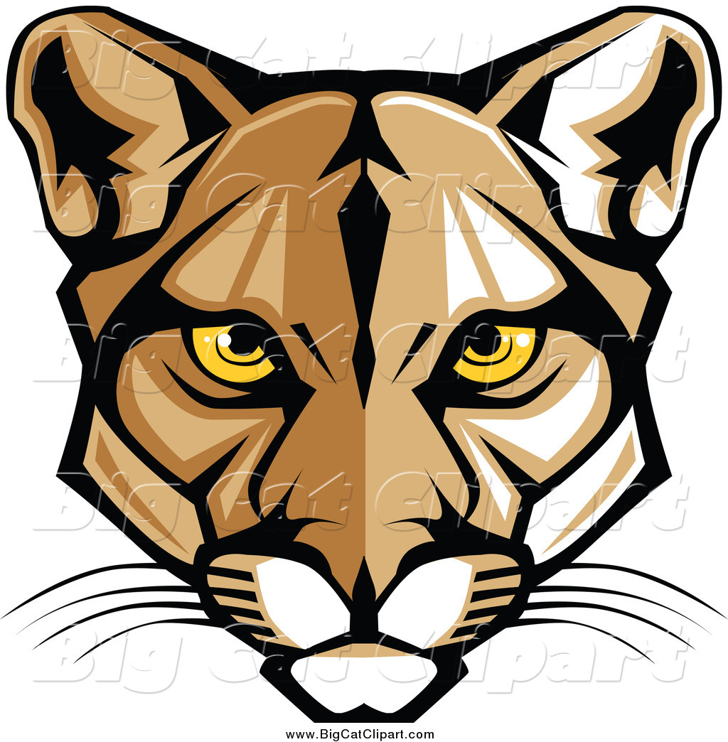 royalty free stock big cat designs of mountain lion mascots cougar clip art templates cougar clip art templates
