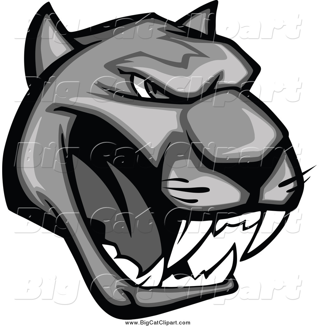 Panther Head Logos Growling Panther Head