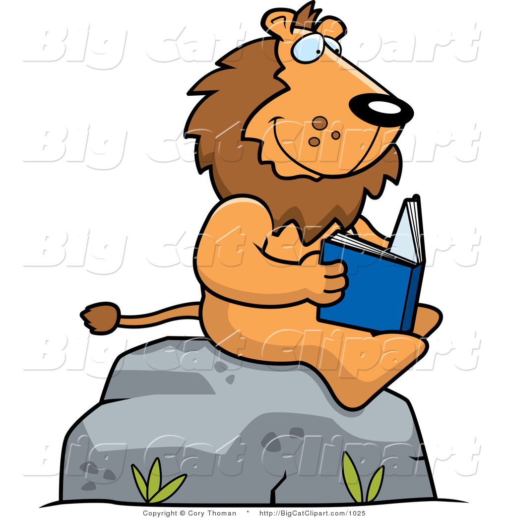 free clip art animals reading books - photo #13