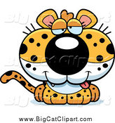 September 19th, 2014: Big Cat Cartoon Vector Clipart of a Drunk Leopard Cub by Cory Thoman