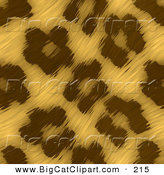 Big Cat Clipart of a Background of Waving Leopard Print FurBackground of Waving Leopard Print Fur by Arena Creative