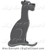 Big Cat Clipart of a Black Panther by Alex Bannykh