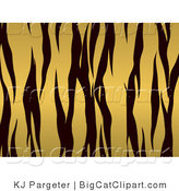 Big Cat Clipart of a Gold and Black Tiger Stripes Background by KJ Pargeter