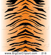 Big Cat Vector Clipart of a Black and Orange Centered Tiger Stripe Pattern BackgroundBlack and Orange Centered Tiger Stripe Pattern Background by Arena Creative