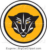 Big Cat Vector Clipart of a Cougar Icon by Eugene