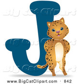 Big Cat Vector Clipart of a Jaguar by a J by BNP Design Studio