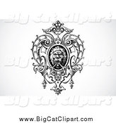 Big Cat Vector Clipart of an Ornamental Lion Design Element by BestVector