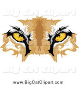 Big Cat Vector Clipart of Cougar Eyes by Chromaco