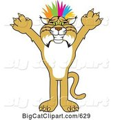 Vector Clipart of a Cartoon Bobcat Character Punk by Toons4Biz
