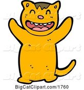 Vector Clipart of a Happy Cartoon Tiger by Lineartestpilot