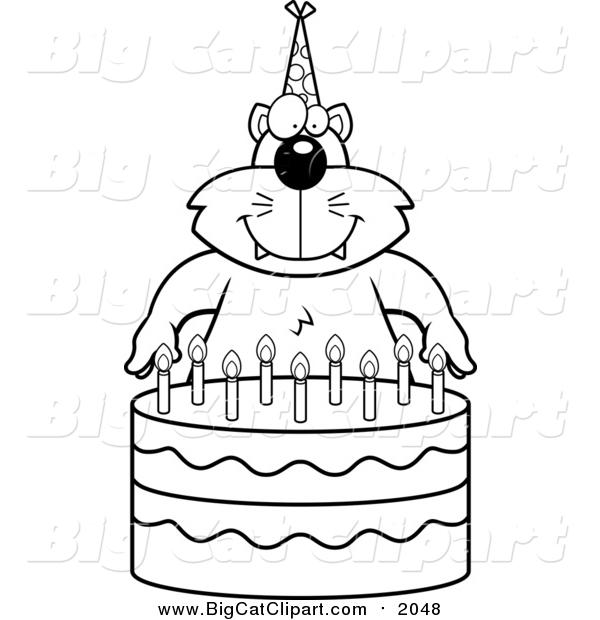 Big Cat Cartoon Vector Clipart