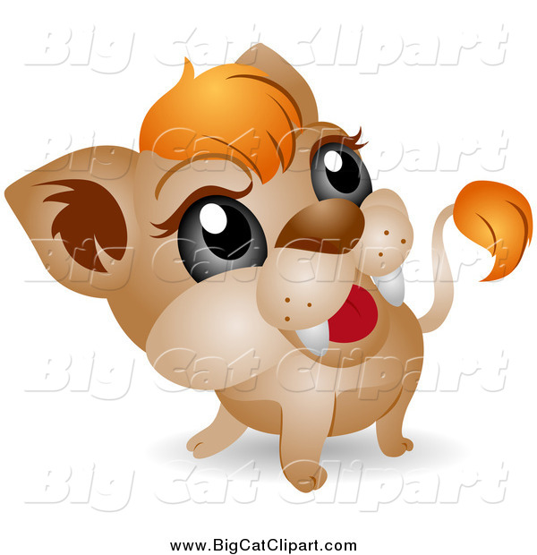 Big Cat Vector Clipart of a Adorable Baby Lion Cub by BNP Design ...