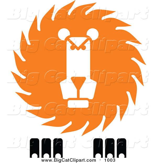 Vector Clipart of a Lion Face