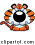 Big Cat Cartoon Vector Clipart of a Cute Mad Little Tiger by Cory Thoman
