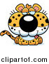 Big Cat Cartoon Vector Clipart of a Drunk Leopard Cub by Cory Thoman