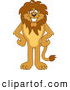 Big Cat Cartoon Vector Clipart of a Smiling Lion Character Mascot by Toons4Biz