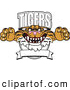 Big Cat Cartoon Vector Clipart of a Smiling Tigers Character School Mascot Logo by Toons4Biz
