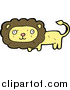 Big Cat Cartoon Vector Clipart of a Wild Lion in Brown and Yellow by Lineartestpilot
