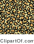 Big Cat Clipart of a Beige Tan and Black Leopard Spots Background by KJ Pargeter