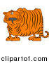Big Cat Vector Clipart of a Confused Chubby Tiger by Djart