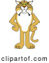 Big Cat Vector Clipart of a Cute Bobcat Character Standing with His Hands on His Hips by Toons4Biz