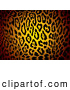 Big Cat Vector Clipart of a Glowing Patterned Jaguar Skin Print Background by Michaeltravers