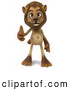 Big Cat Vector Clipart of a Lion Character Giving the Thumbs up - Pose 1 by Julos