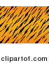 Big Cat Vector Clipart of a Seamless Tiger Jungle Animal Print Pattern by BNP Design Studio