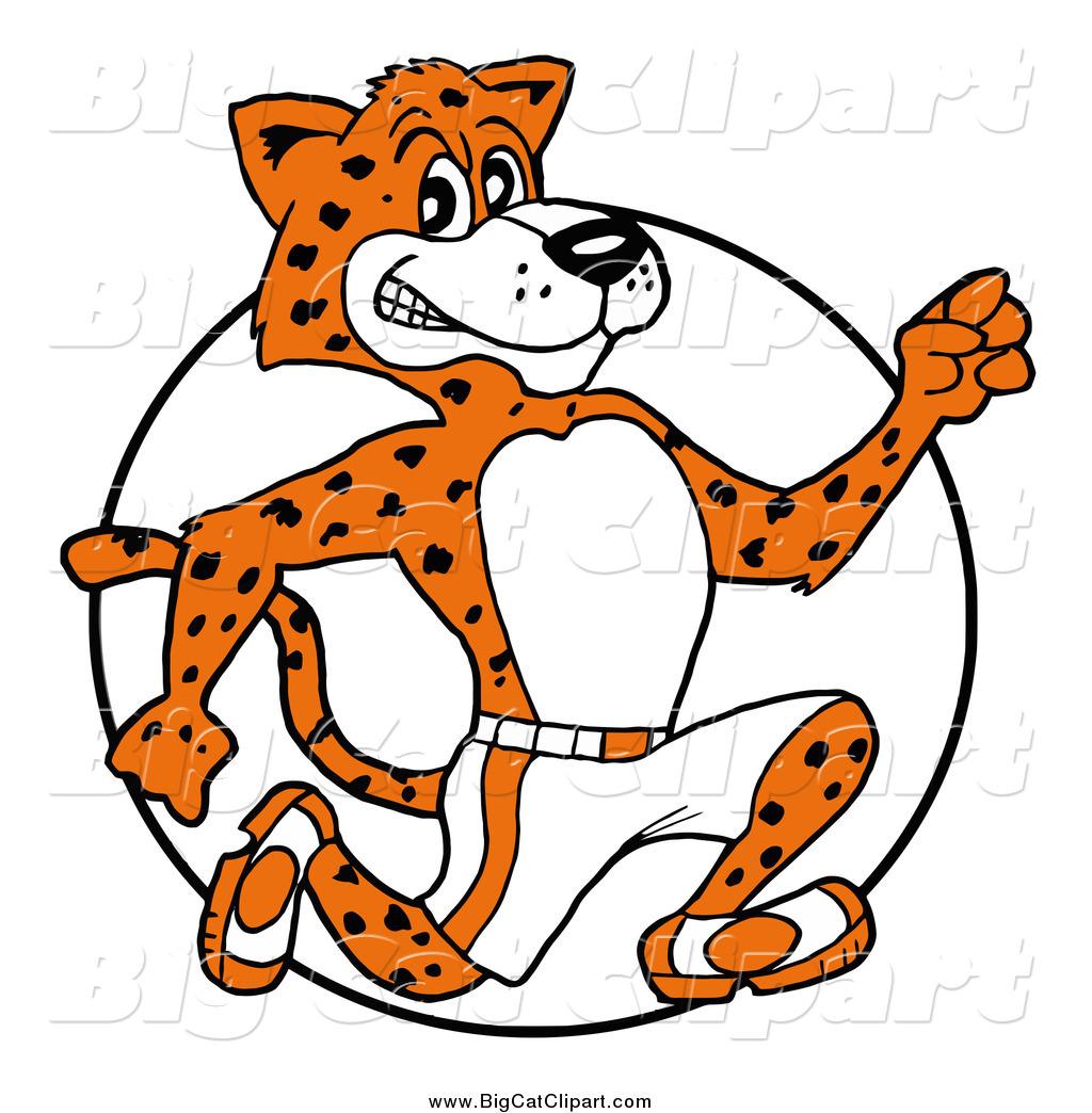 big cat cartoon vector clipart of a athletic cheetah cheetah clip art svg cheetah clipart image
