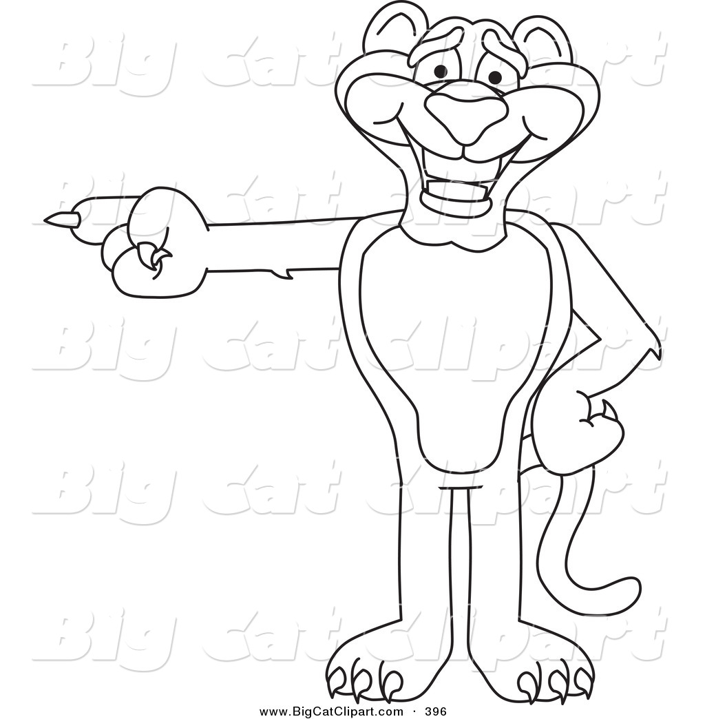 Cartoon Characters Outline : Big cat clipart new stock designs by some of the