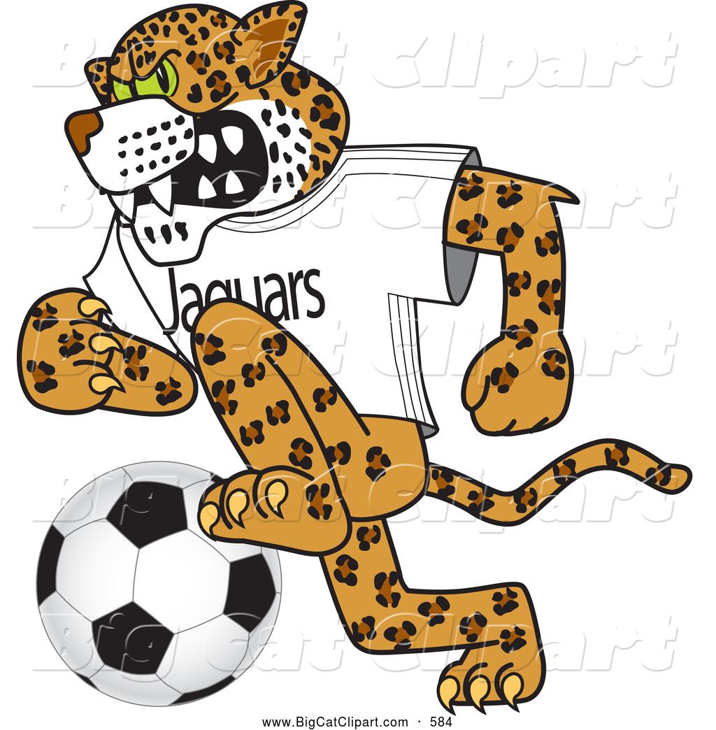 big cat cartoon vector clipart of a cute jaguar character school rh bigcatclipart com free jaguar mascot clipart Jaguar Girl Mascot