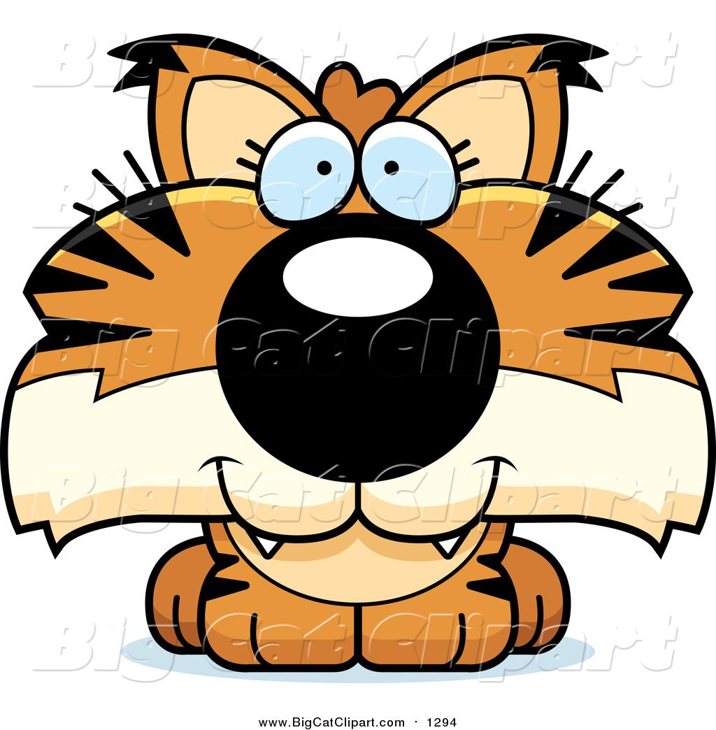 big cat cartoon vector clipart of a happy bobcat cub by cory thoman rh bigcatclipart com bobcat clipart images bobcat clipart images