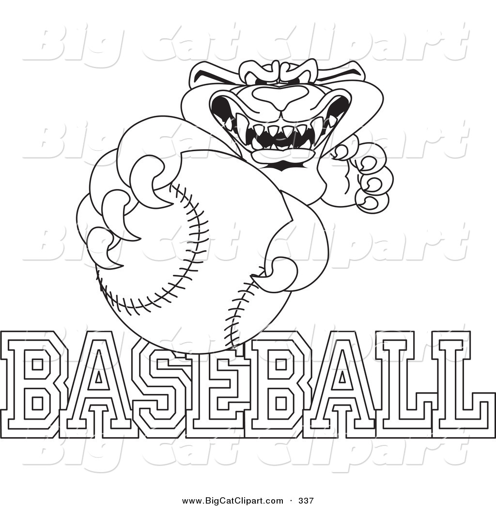 Several PDFs of coloring pages for MLB mascots. Was looking ...   1044x1024