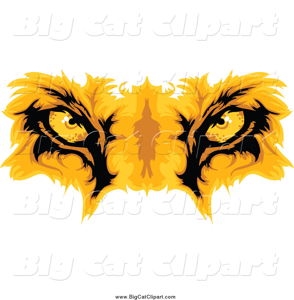 Royalty Free Cartoon Stock Big Cat Designs