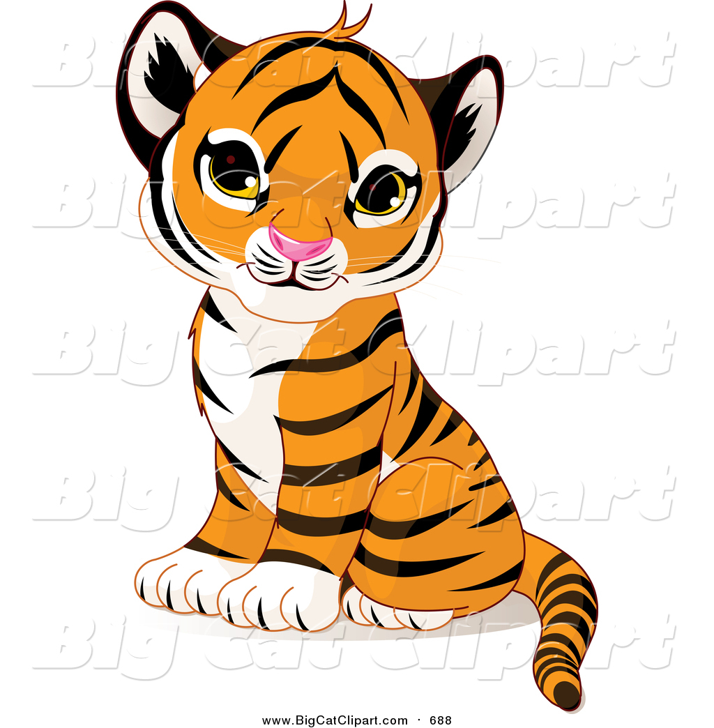 big cat vector clipart of a cute sitting baby tiger cub by pushkin rh bigcatclipart com tiger cub scout clip art free tiger cub scout clip art