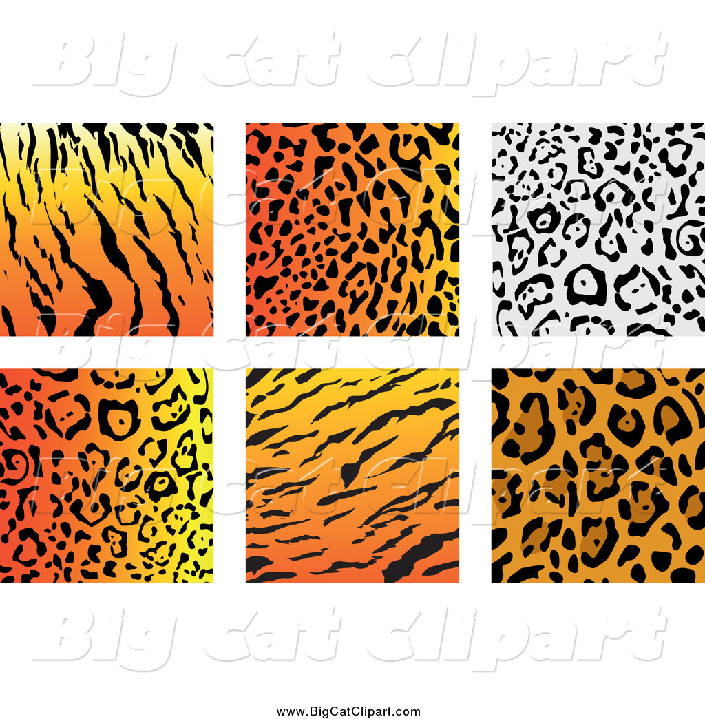 big cat vector clipart of jungle animal print backgrounds by vector rh bigcatclipart com animal paw print clipart wild animal print clipart