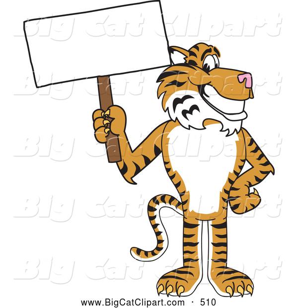 big cat cartoon vector clipart of a cheerful tiger character school rh bigcatclipart com cougar school mascot clipart wildcat school mascot clipart